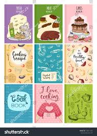 cooking recipe books cover kitchen design stock vector 734011732