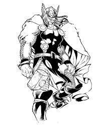 Thor04  Coloriage de Thor  Coloriages pour enfants