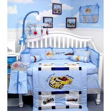 Nursery Bed Set New Zoom Zoom Race Car Baby Crib Nursery Bedding Set