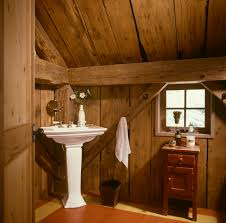 rustic bath w corner pedestal sink cabins and things pinterest