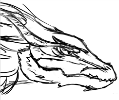 dragon head side view sketch by dapplesnow on deviantart