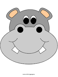 hippo clipart mask pencil and in color hippo clipart mask