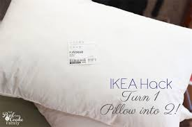 IKEA Hack Turn 1 Pillow Into 2 Pillows