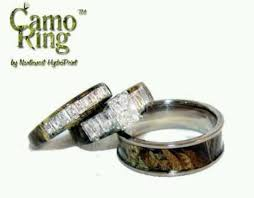 camo wedding rings with real diamonds edwards camo wedding rings diy wedding 13292