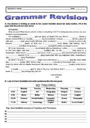 english teaching worksheets grammar revision