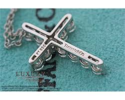 necklace pendants tiffany images Tiffany and co platinum diamond cross pendant necklace JPG