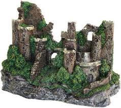large castle ruin aquarium ornament fish tank decoration 29cm
