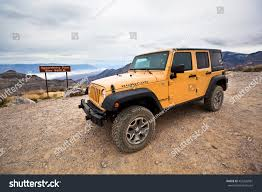 old yellow jeep death valley national park california march stock photo 435226981