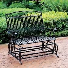 how to spice up a plain metal glider bench