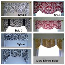 Black Window Valance Window Valance Black And White Window Valance Gray Navy