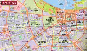 doha qatar map qatar road map doha plan stanfords