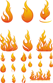 5 sets with 40 vector flame templates and spurts of flame for your