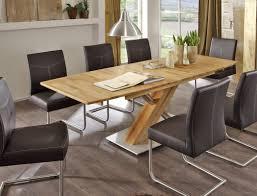 Esszimmer Tisch Massiv Säulentisch Ataro C 2xl Bootsform Tisch Ausziehbar X Form Esstisch
