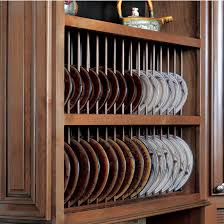 Display Dishes In China Cabinet Plate Cabinet Display Remodelaholic Diy Wall Mounted Pot Rack From