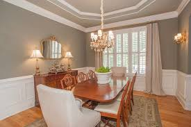Dining Rooms With Wainscoting Dining Room With Carpet U0026 Chandelier In Ga Zillow Digs
