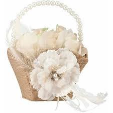 Walmart Wedding Flowers - lillian rose rustic burlap u0026amp lace flower basket walmart com