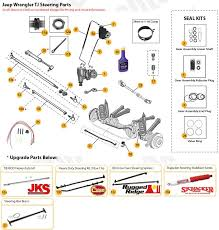 1997 jeep parts diagram jeep steering parts for wrangler tj jeep