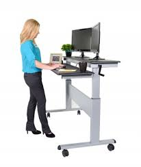 2 Tier Computer Desk Two Tier Electric Stand Up Desk 60 Inch Stand Up Desk Store