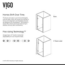 tempo adjustable frameless shower door shower doors shower