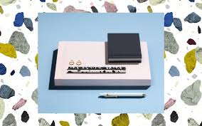 paper pad large silver grey