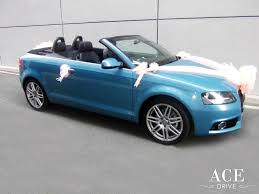 peach car audi a3 wedding car decorations by ace drive car rental