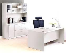 white executive desk white executive desk with hutch