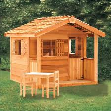 Backyard Playhouse Ideas Outdoor Wooden Playhouse Wooden Outdoor Playhouse For Kids