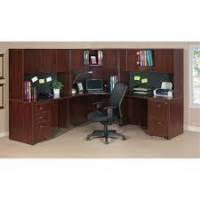 Office Desk Essentials Lorell Essentials Series Mahogany Reception Desk Walker S Office