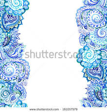 blue repeated ethnic border ornament stock illustration