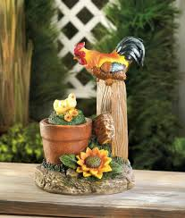 solar rotating rooster garden decor wholesale at koehler home decor