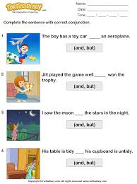 choose the correct conjunction worksheet turtle diary