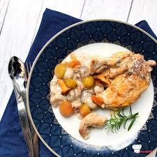 photo recette cuisine suprêmes de pintade aux mirabelles et aux girolles recette cookeo
