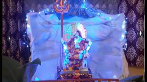 ganpati decoration at home waterfall and mountain theme 2016