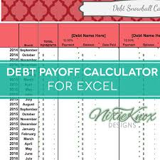 Debt Payoff Spreadsheet Excel Debt Payoff Calculator For Excel Track Your Interest Rates