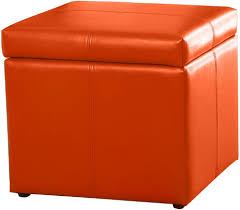 Stow Ottoman by Design Of Orange Storage Ottoman Stow Persimmon 17quot Leather