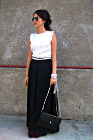 black and white blouses black skirts white blouses another take on maxi skirts by