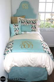 light blue girls bedding boho deer woodland designer teen bedding set