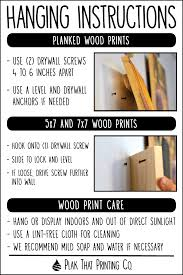 How To Hang Prints How To Hang A Wood Print