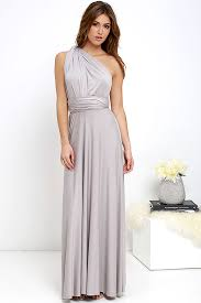 light grey infinity dress all the sway convertible light grey maxi dress it started with yes