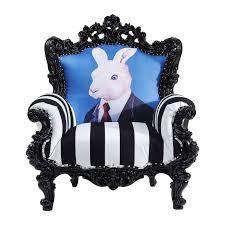 fauteuil kare design fauteuil baroque noir et blanc mink mr rabbit kare design