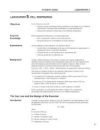 cellular respiration lab handout