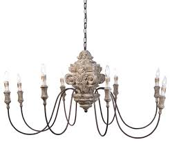 pretty french country chandelier on furniture with country french