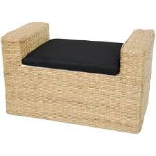 Tall Storage Bench Amazon Com Oriental Furniture Rush Grass Storage Bench Dark