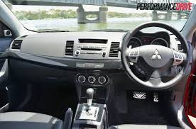 Lancer Sportback Interior 2012 Mitsubishi Lancer Vrx Sportback Review Test Performancedrive