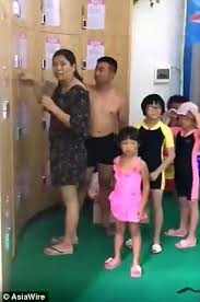 chinese parents leave their child in a pool locker daily mail online