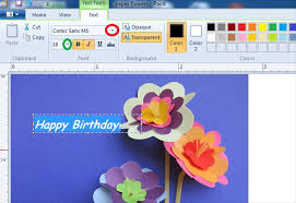 how to make your own ecard with ms paint