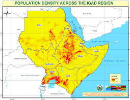 Djibouti Map Population Density Across Igad Region U2014 Geonode