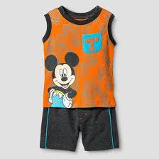 baby boys u0027 mickey mouse lifeguard muscle t shirt u0026 shorts set