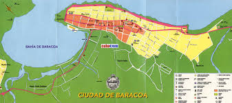 Map Cuba Cuba Mapa Com Baracoa City Map
