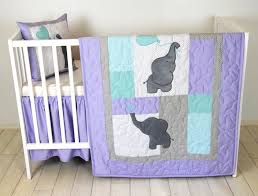 Purple Grey Crib Bedding by Baby Quilt Elephant Blanket Teal Purple Gray Crib Bedding